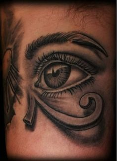egyptian eye tattoo Egyptian Eye Tattoos, Horus Tattoo, Eye Study, Eye Of Horus, Future Tattoos, Girls Eyes, Inked Girls, Tattoo Studio, Tattoo Images