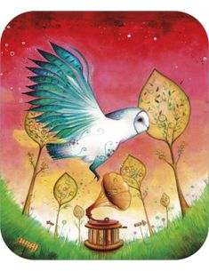 """Jehanne Weyman carte postale """"Chouette"""""""