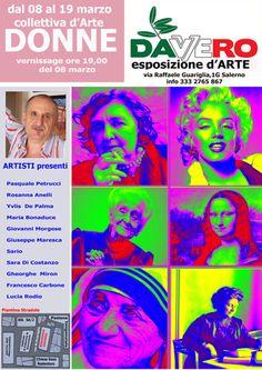 """Sario Pittore, Esposizione di artisti con Vernissage ore 19:00 del giorno 8 Marzo 2016  """"Per tutte le violenze consumate su di lei, per tutte le umiliazioni che..."""
