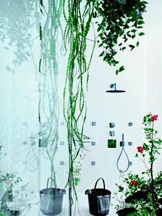 Wow!  I never knew they could do this!!  Axor Urquiola Thermostatic Shower  @HansgroheUSA and #BathroomDreams