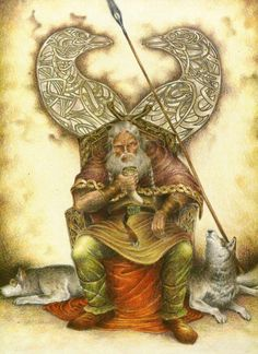 Odín: Use for Viking folklore Norse Pagan, Norse Mythology, Wiccan, Viking Warrior, Viking Age, Odin Allfather, Viking Culture, Raven Art, Asatru