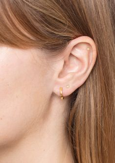 Yellow Gold moon Flat Back stud Mystic Stars, Mystic Moon, Labret Studs, Cleaning Silver Jewelry, Gold Stars, Fashion Earrings, Solid Gold, Sterling Silver Jewelry, Piercings