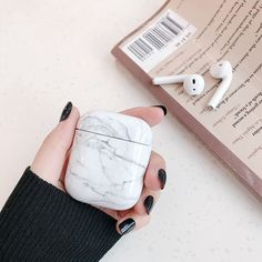 Luxury agate Marble hard case for Apple Airpods case protective cover Bluetooth Wireless Earphone Case Charging Box case bags - AirPod case cover marble silicone vinyl skin, Protective shockproof aesthetic keychain iPhone acces - Fone Apple, Apple Airpods 2, Apple Pin, Cute Ipod Cases, Apple Iphone, Bluetooth Wireless Earphones, Cheap Iphones, Accessoires Iphone, Earphone Case