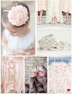 Blush Pink Sparkle Wedding Ideas #weddings #inspiration #ideas #blush #pink #sparkle #sparkly #heartloveweddings