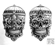 Kapala Sketch still up for grabs. Japanese tibetan skull tibetanskull tattoo japanesetattoo sketch johnqtattoo stockholmtattoo