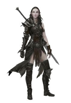Female Elf Fighter or Magus - Pathfinder PFRPG DND D&D 3.5 5th ed d20 fantasy