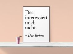 Originaldruck - Kunstdruck Poster / Die Bohne - ein Designerstück von typealive bei DaWanda