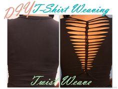 Real Asian Beauty: DIY Shirt Weaving - TWIST WEAVE