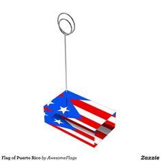 Flag of Puerto Rico Table Card Holders