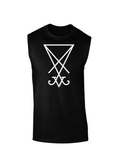 TooLoud Sigil of Lucifer - Seal of Satan Dark Muscle Shirt