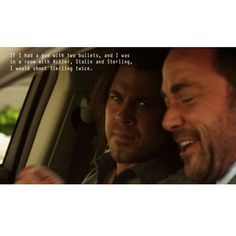 Haha he probably would to!! :-D   Eliot & Sterling   Leverage