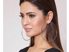 The aspect of keeping large hoop earrings was not given enough attention. There is a degree of carel Big Earrings, Hoop Earrings, Sterling Sliver, Women's Accessories, Silver Plate, Piercings, Dangles, Plating, Decluttering