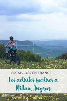 Les activités sportives à Millau, véritable capitale de sensations fortes ! Blog Voyage, France, Sports Extrêmes, Nature, Movie Posters, Travel, Twins, Sports Activities, Family Travel