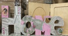 Decopatch is the in-thing this season, and using it on paper-mache letters has fantastic results. #decopatch #paper #mache #home #letters #cardboard #craft #ideas