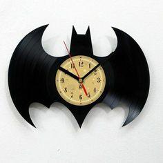 Schallplatten-Idee-Wanduhr-Batman-Inspiration
