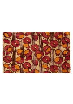 Just Poppy In Doormat, #ModCloth  You don't see cute doormats all that often. Great colors for the fall!
