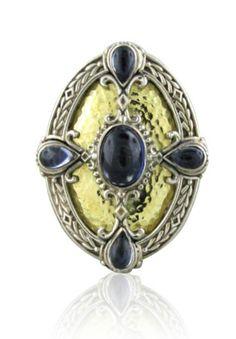 Konstantino Aspasia Sterling 18k Gold Iolite Ring