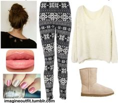 A cute lazy day outfit! Perfect for winter