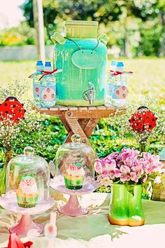 Summer Picnic themed birthday party