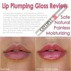 Agape Love Designs: City Lips - Lip Plumping Gloss Review