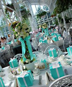 beautiful tiffany colored reception hall for weddings | Tiffany Blue Stylish Wedding Theme | Home Decor Book