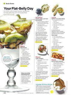Flat Belly Diet - egg quesadilla, salmon boat and lasagna   Women's Health Magazine
