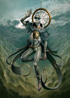 Sahaqiel, Angel of the Sky - Art by Peter Mohrbacher - Angelarium