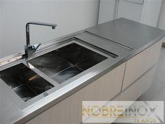 Bancada inox - Cozinha Residencial