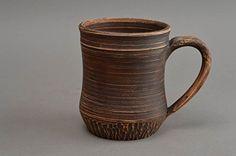 Handmade Designer Ceramic Cup Beautiful Clay Tea Cup Beer Mug Ideas 500 Ml