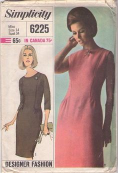 Sewing Pattern Vintage Simplicity 6225 Dress by tricotgirl Simplicity Sewing Patterns, Vintage Sewing Patterns, Clothing Patterns, Contexto Social, Patron Vintage, Dress Making Patterns, Costume Patterns, Couture, Vintage Glamour