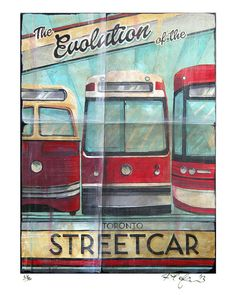 THREE - COUNT THEM THREE - types of Toronto Transit Commission Streetcars!!!! Admit it, you are a streetcar nerd! So this is perfect for you!!! This