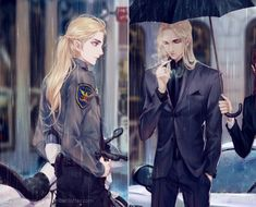 Thranduil and Legolas Police Officers