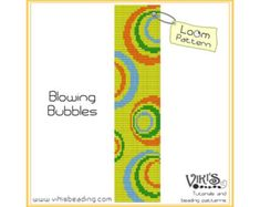 Pattern for Loom bracelet: High Contrast por VikisBeadingPatterns