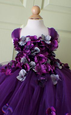 Vestido de la muchacha de flor vestido del tutú por FashionTouch