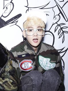 I don't understand how or why Baekhyun ended up with a Habs logo on his jacket but damn.