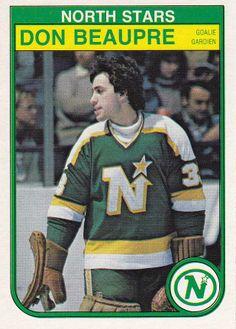 Goalie Don Beaupre In his first season, Don was an All-Star, helped the North… Rink Hockey, Hockey Puck, Hockey Teams, Hockey Players, Hockey Stuff, Minnesota North Stars, Minnesota Wild, Nhl, Feeling Minnesota