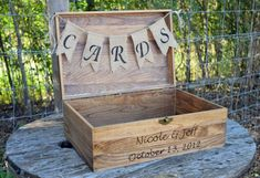 Shabby Chic Wedding Rustic Wooden Card Box  by CountryBarnBabe
