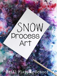 Snow print making is a fun winter process art project for kids!
