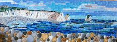 Mosaic of Freshwater Bay, Isle of Wight - near our new house!