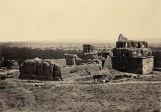 Photograph of Damascus by Francis Frith [1822-1898 ] dated 1857 taken from the slopes of Mount Qassioun, with panoramic view of the old city...