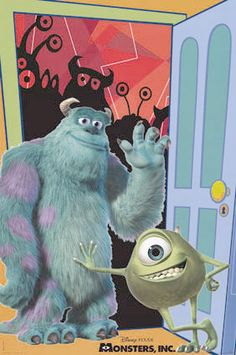 Mike and Sully on Monters Inc. movie