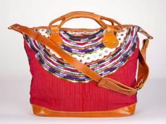 www.nenaandco.com   Guatemalan Huipil bag with leather accents. So glad to be part of such a great cause!!! Thank you @Nena & Co.