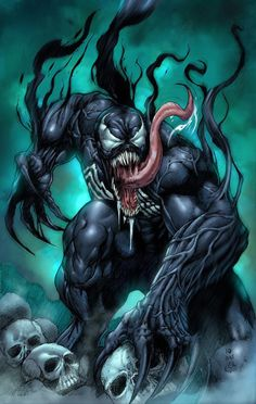 Venom- Marvel Spiderman Universe Credits to the artist Venom Comics, Marvel Venom, Marvel Villains, Marvel Comics Art, Marvel Heroes, Marvel Characters, Fictional Characters, Comic Book Heroes, Comic Books Art