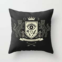 The Secret Society Throw Pillow
