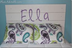 Easy Personalized DIY Headboard Tutorial! #diy #headboards