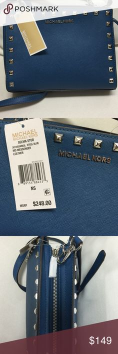 🛍NWT Medium Michael Kors Stud Crossbody final price! ❤️ Absolutely beautiful BRAND NEW/tags Michael Kors Medium Selma Stud Crossbody!  Classy silver accents. ✨Please do not hesitate to ask questions! No trades ⭐️⭐️⭐️⭐️⭐️5 star seller!!! Michael Kors Bags Crossbody Bags