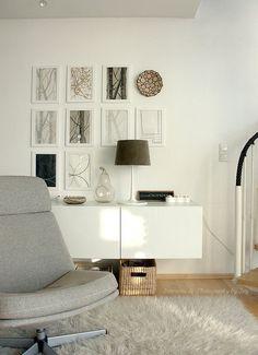 Besta floating console/art wall