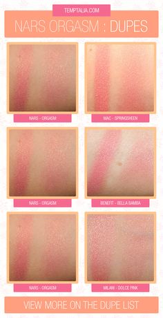 NARS Orgasm Blush Dupes Comparisons