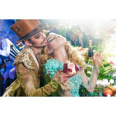 Mad Hatter Steampunk Tea Party 2 (fashion photography Alice in... ($30) ❤ liked on Polyvore