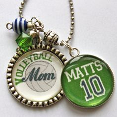 Volleyball Mom necklace with number mom grandma nana by TrendyTz, $20.99